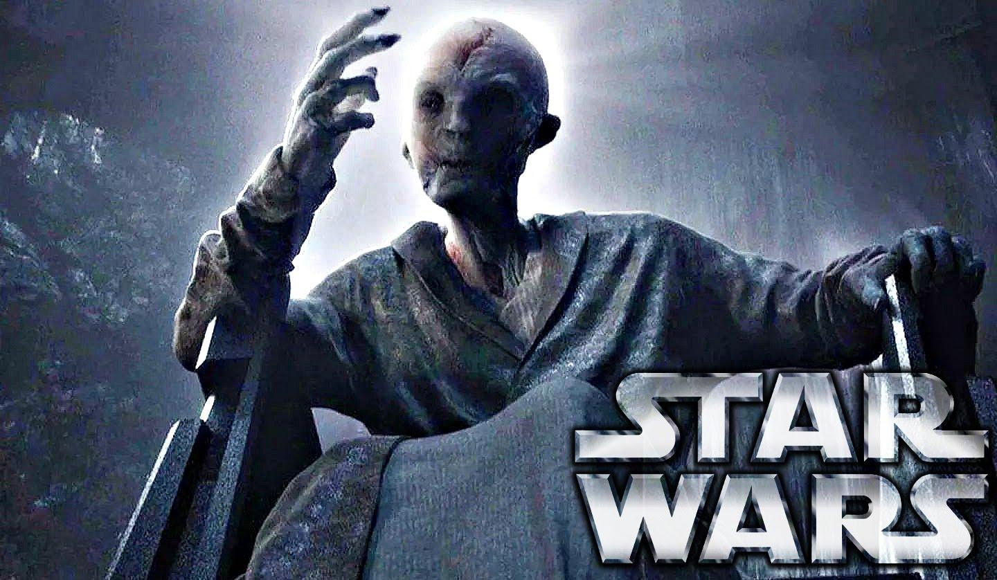 Supreme Leader Snoke in action in Star Wars: The Force Awakens